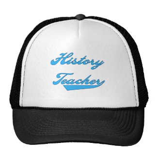 History Teacher Blue T-shirts and Gifts Trucker Hats