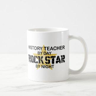 History Teacher Rock Star Basic White Mug