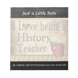 History Teacher | Vintage Style Notepad
