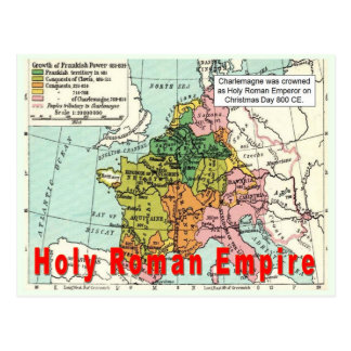 History, War and Peace, Holy Roman Empire Postcard