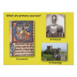 History, What are Primary sources? Poster