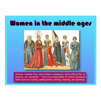 History, Women in the Middle Ages Postcard