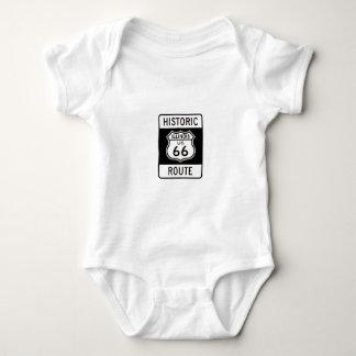 Histric Route 66 Illinois Baby Bodysuit