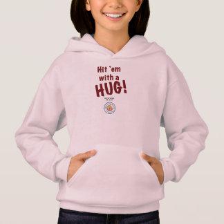 Hit `em with a HUG! Girls' Hoodie