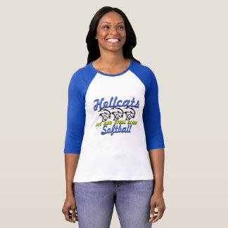 Hit Run Steal Slide Hellcats Softball T-Shirt