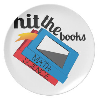 Hit The Books Plate