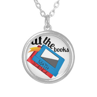 Hit The Books Silver Plated Necklace