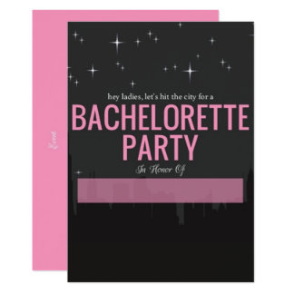 Hit The City Skyline Bachelorette Party Card