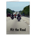 HIT THE ROAD=MOTORCYCLE STYLE BIRTHDAY GREETING CARDS