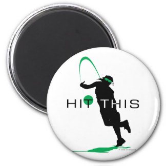 Hit This Green Pitcher Softball 6 Cm Round Magnet
