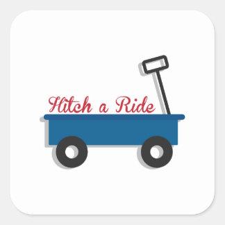 Hitch a Ride Square Sticker