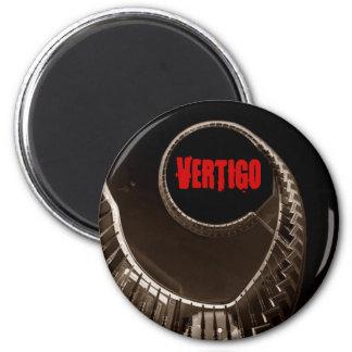 Hitchcock-esque Vertigo Dark Circular Stairwell Magnet