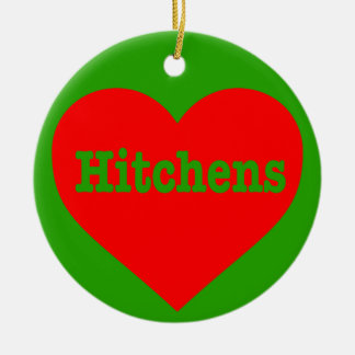 """""""HITCHENS HEART"""" (double-sided) Round Ceramic Decoration"""