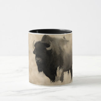 """Hitching a Ride""  -  Bison-lover's Design Mug"