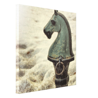 HITCHING POST 12 x 12 Canvas