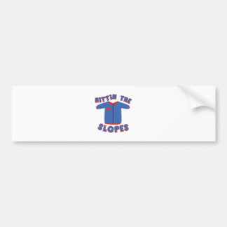 Hittin Slopes Bumper Sticker