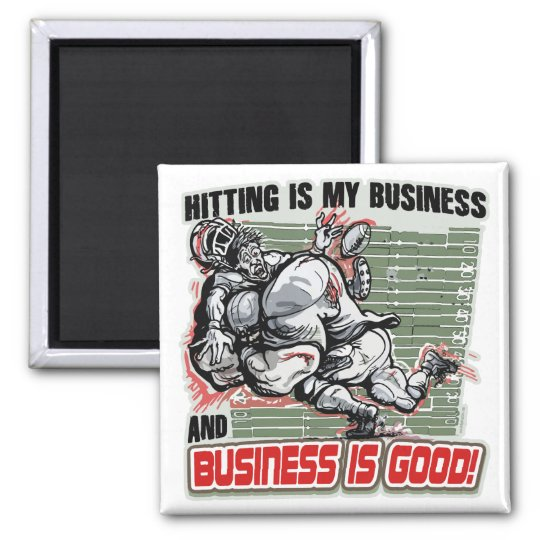 Hitting is My Business by Mudge Studios Magnet