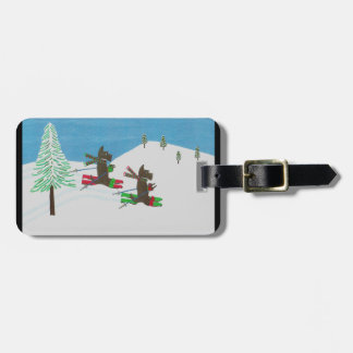 HITTING THE SLOPES LUGGAGE TAG