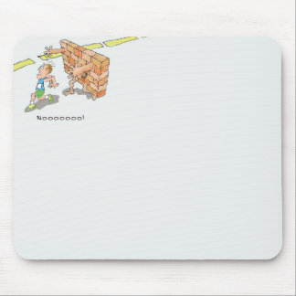 Hitting the Wall Mouse Pad