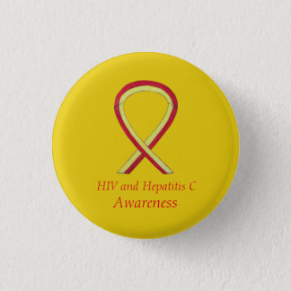 HIV - Hepatitis C Awareness Angel HCV Ribbon Pins