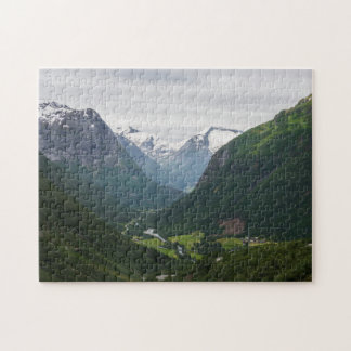 Hjelle valley in Norway jigsaw puzzle