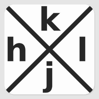 hjkl for Hardcore Vi/Vim Hackers - Square Sticker