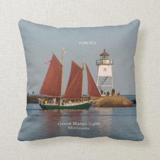 Hjordis & Grand Marias Light square pillow
