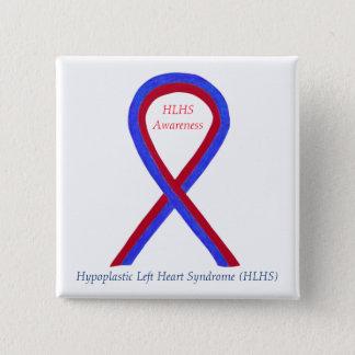 HLHS Awareness Ribbon Custom Words Pins Buttons