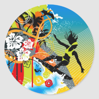hlhw_002 classic round sticker