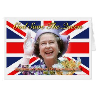 HM Queen Elizabeth II Diamond Jubilee. Greeting Card