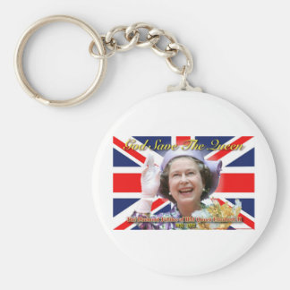 HM Queen Elizabeth II Diamond Jubilee Basic Round Button Key Ring