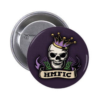 HMFIC 6 CM ROUND BADGE