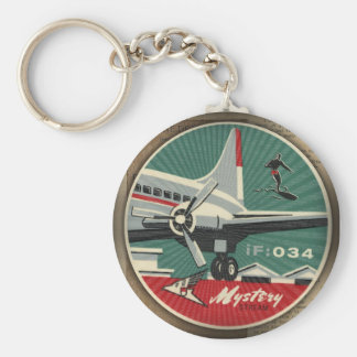 HMK Mystery Stream Airlines 034 Basic Round Button Key Ring