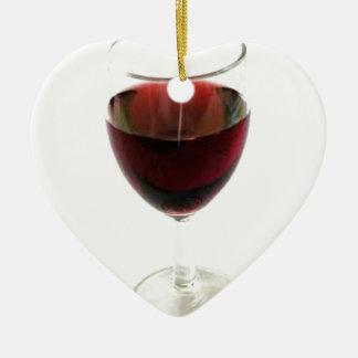 Hmmmmm Wine Ceramic Heart Decoration