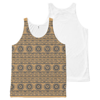 Hmong Motif Gray Print All-Over Print Singlet