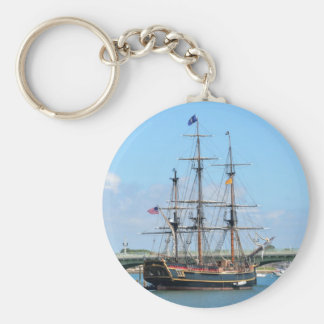 HMS BOUNTY BASIC ROUND BUTTON KEY RING