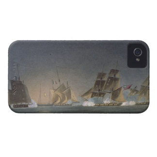 HMS Rinaldo engaging four French Privateers, engra iPhone 4 Cases