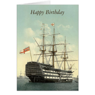 HMS Victory  Personalised Greetings Card