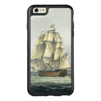 HMS Victory sailing for the French line flanked by OtterBox iPhone 6/6s Plus Case