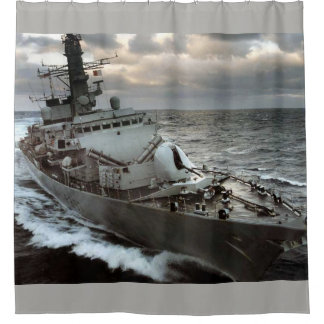 HMS Westminster royal navy Shower Curtain