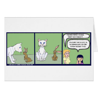 HnH Paper Tiger Greeting Card