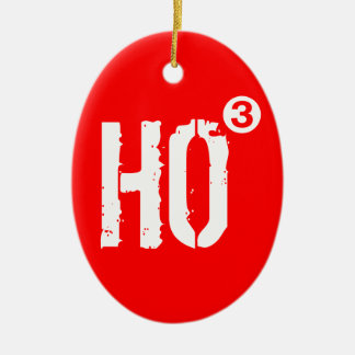 HO3 Cubed Santa Clause Christmas Tree Ornament