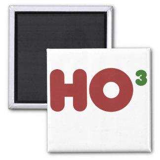 Ho 3 Nerdy funny christmas Square Magnet