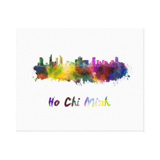 Ho Chi Minh skyline in watercolor Canvas Print