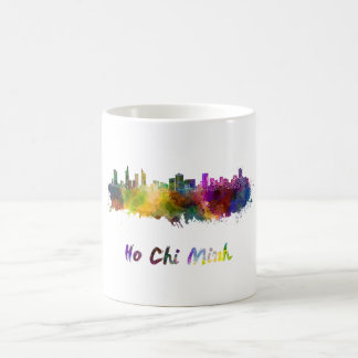 Ho Chi Minh skyline in watercolor Coffee Mug