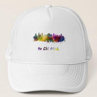 Ho Chi Minh skyline in watercolor Trucker Hat