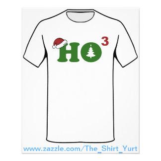 Ho Cubed Merry Christmas 11.5 Cm X 14 Cm Flyer