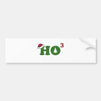 Ho Cubed Merry Christmas Bumper Stickers
