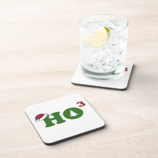 Ho Cubed Merry Christmas Coaster