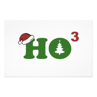 Ho Cubed Merry Christmas Custom Stationery